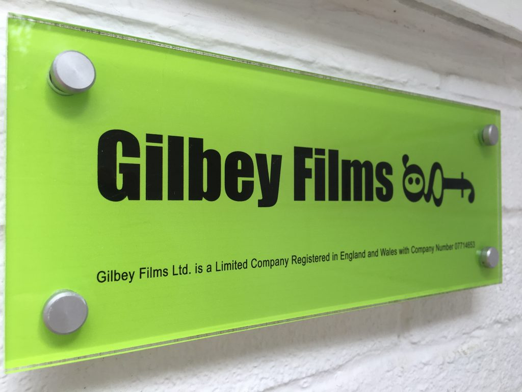 Gilbey Films sign